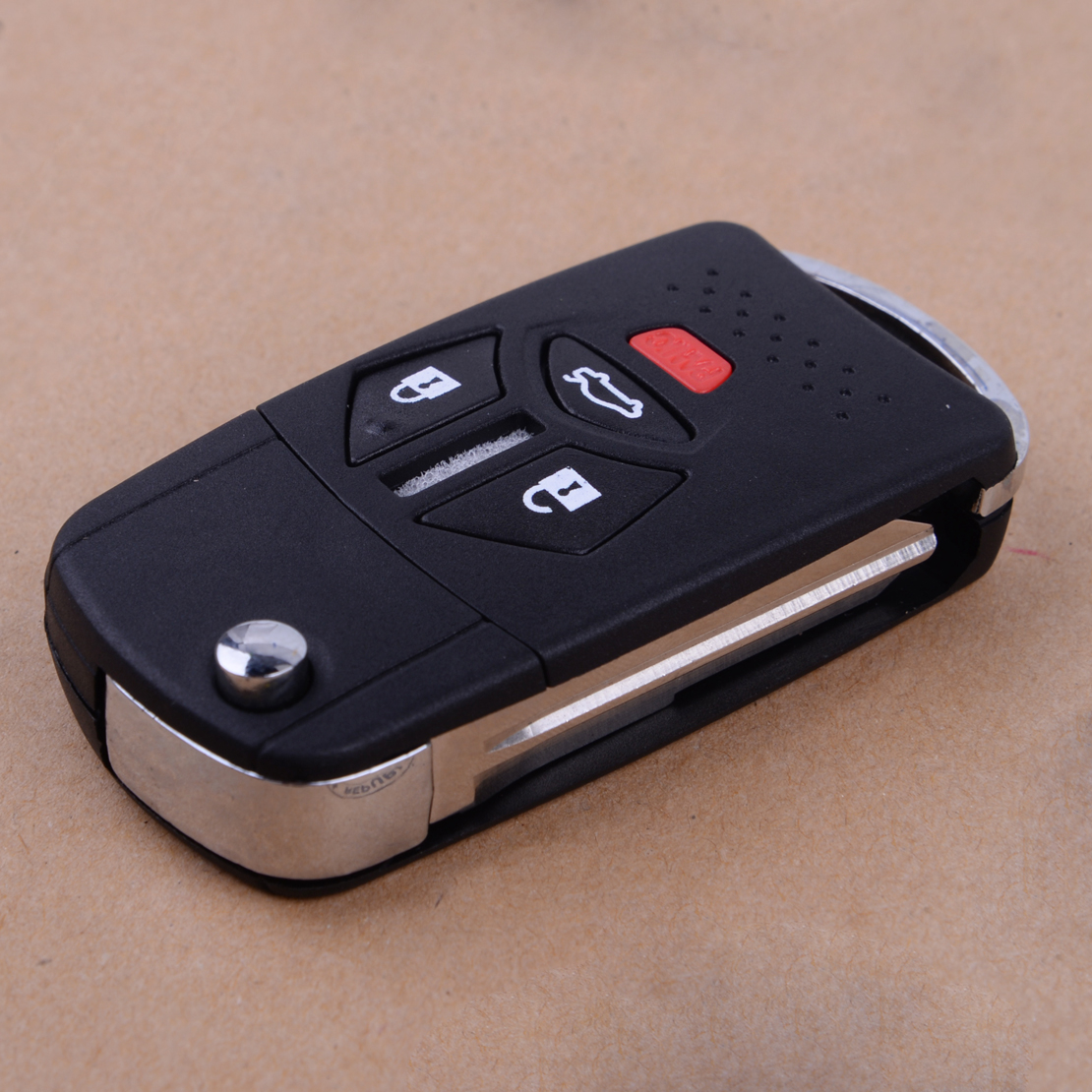 beler 4 Buttons Flip Remote Key Shell Fob Uncut Blank Fit for Mitsubishi Eclipse Galant Lancer 2007-2010