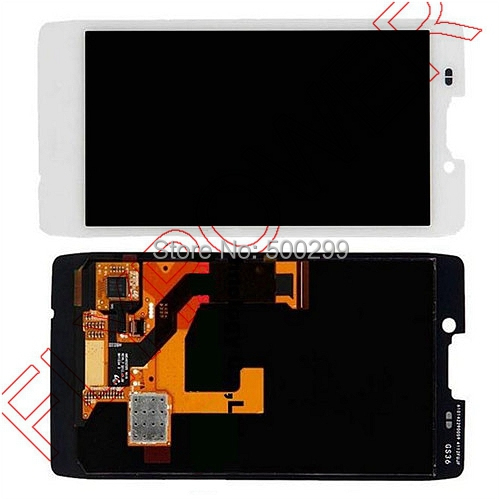 ФОТО For Motorola DROID RAZR HD XT926 XT925 LCD Screen Display with Touch Digitizer Assembly free shipping; White; HQ; 100% warranty