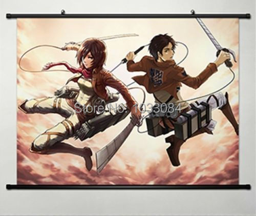 Attack on Titan Shingeki no Kyojin Eren Jaeger Recon Corps Wall poster Scroll