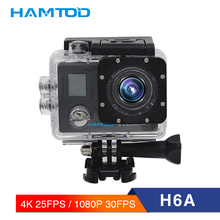 HAMTOD H6A 4K WiFi Action Camera 2.0 inch LCD Screen 1080P HD Diving Waterproof mini Camcorder Sports Cameras