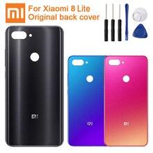 XIAOMI Original Glass Battery Rear Case For Xiaomi 8 Lite Mi8 Back Cover Phone Backshell Cases