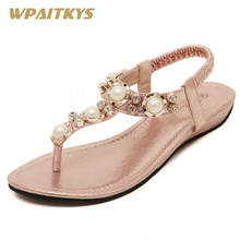 2018 Pink Silver Women s Sandals Fashion Sequined Cloth Pearl Rhinestone  Metal Matching Shoes Women Wedding Party e78a598e8ce6