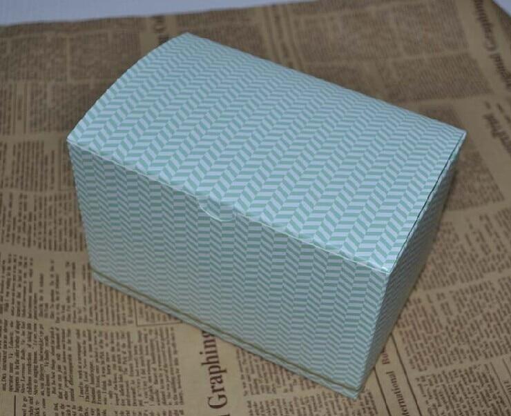 539c6adc11 16*10*10 cm verde pastel raya caja de dulces galletas embalaje del regalo  box100pcs/Lot envío libre