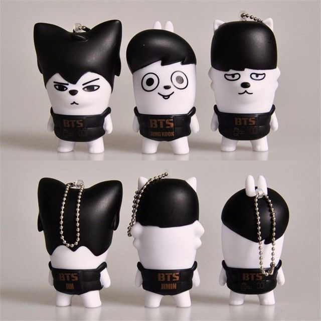 Mini BTS Keychain Toy Figures (Sold Separately)