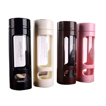 360ml Glass Water Bottle Candy Color Silicone Anti scald Creative Tumbler Portable Sports Drinking  Bottles