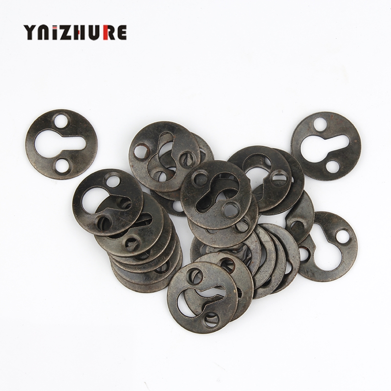 25mm 20Pcs Round Hanging Picture oil Painting Mirror Frame Hooks Hangers With Screws Bronze Tone цена