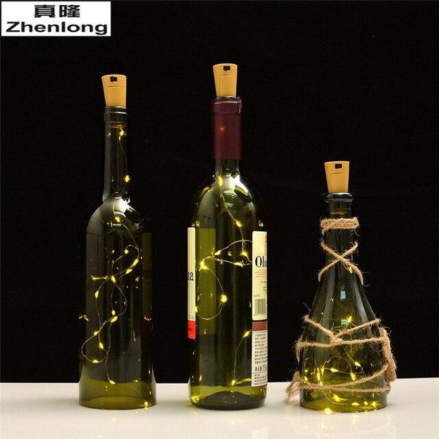 b161c4b78a0 Botella de vino corcho luces 20 LEDs DIY micro LED botella Tapones luces  Decoración Luz Navidad