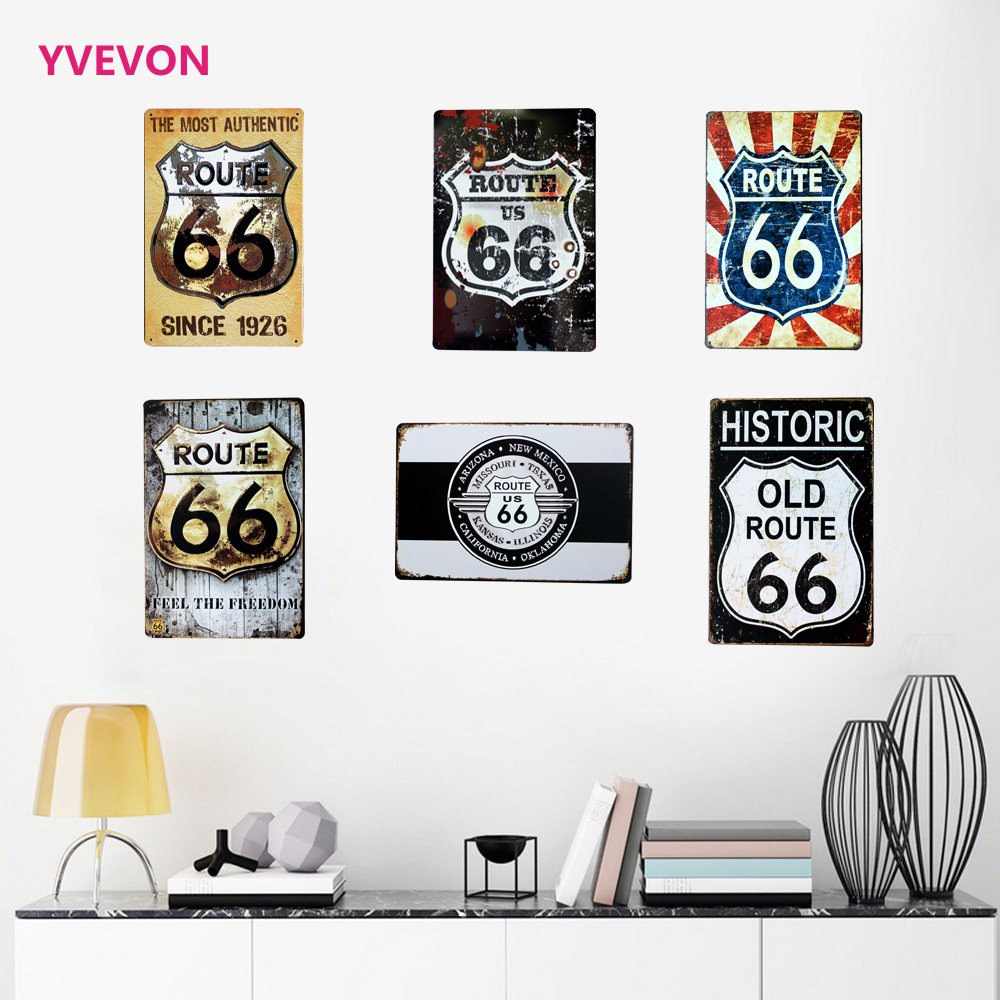 Top 8 Most Popular Vintage Metalic Poster Route 66 Brands And Get