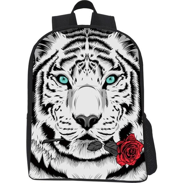 Niños de camuflaje 3D Animal Tiger Head Impresión mochilas escolares ...