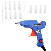 XL-E20 высокотемпературный нагреватель расплава горячего клея пистолет 20 Вт ручной с 50 клеевых палочек Graft ремонтный инструмент тепловой пистолет