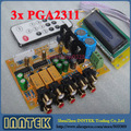 Top version 3x  PGA2311 6 channel Stero Remote Volume Controller Preamp Assembled Board, Free shipping