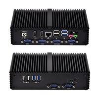 Venta OEM ODM 6 6 COM RS485 VGA Dual Lan Mini Pc Qotom Q350P Core i5 4200U