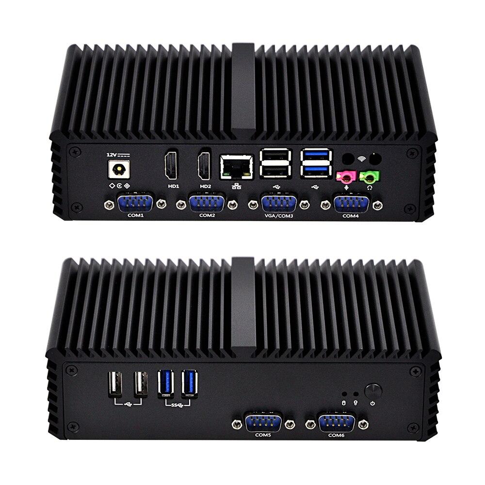 OEM/ODM 6*COM/RS485/VGA Dual Lan Mini Pc Qotom-Q350P Core I5-4200U Processor  6*USB Fanless Low Power 15W Fanless Industrial PC