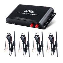 Seicane HD 1080 P DVB-T2 4 тюнер ТВ приемник ТВ ящик для автомобиля DVD плеер с HDMI