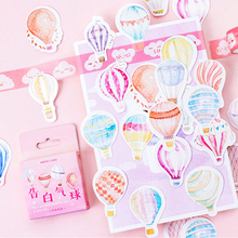 45pcs/box Beautiful balloon paper sticker Decoration diy Scrapbooking Sticker kawaii diary label sealing stickers