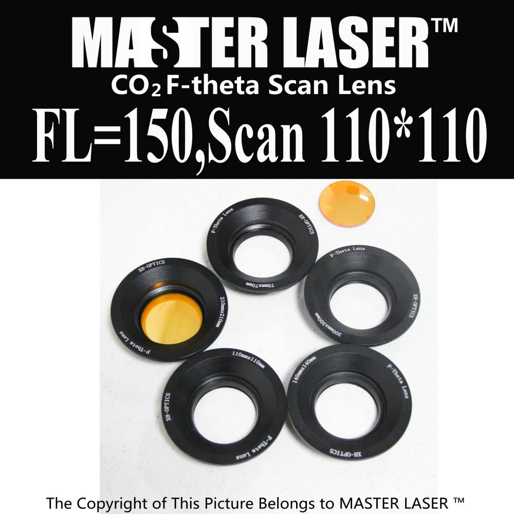 Focal Length 150mm Scan Area 110*110 USA CVD ZnSe CO2 Galvo F-theta Scan Lens System laser  engraver scanning laser scan area 400x400mm f 520mm co2 laser f theta lens