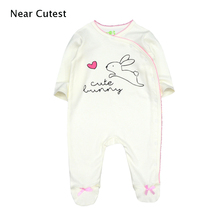 Near Cutest Newborn Baby Ropmer 100% Cotton Cartoon Long Sleeve Boy Girl Clothes Sleepwear