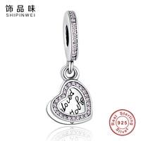 Authentic 100 925 Sterling Silver Bead Charm Heart Pendant Beads Fit Original Pandora Bracelet Bangle Necklace