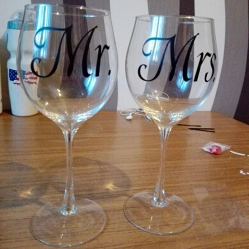 Mr & Znj. Dasma e kavanozit të qelqit të verës Decal Stickers, - Dekor në shtëpi - Foto 3