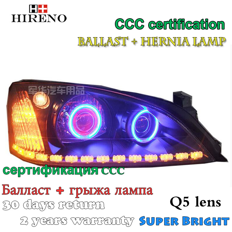 Hireno Modified Headlamp for Ford Mondeo 2004-2007 Headlight Assembly Car styling Angel Lens Beam HID Xenon 2 pcs hireno car styling headlamp for 1998 2002 bmw e38 728 730 735 740 750 headlight assembly led drl angel lens double beam hid xen