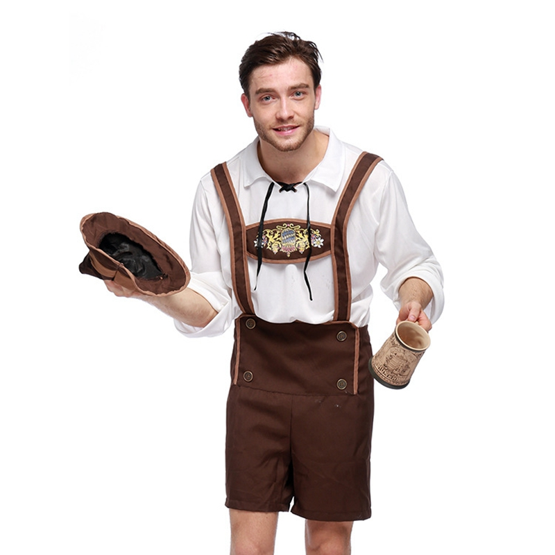 Hot Adult Oktoberfest Costumes Men German Beer Costume Bavarian Beer Festival Costume Adult Halloween Carnival Cosplay Costume