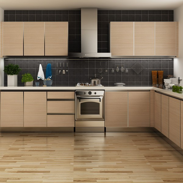 Tanzania Project L Shaped Kitchen Cabinets Factory Made In China