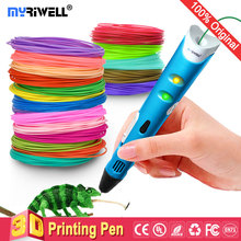 цена на myriwell 3d pen 3d pens,1.75mm ABS/PLA Filament,3 d pen3d model,Creative3d printing pen,Best Gift for Kids DIY creative,pen-3d