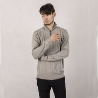 New Striped Turtleneck Zipper Casual Men Pullovers