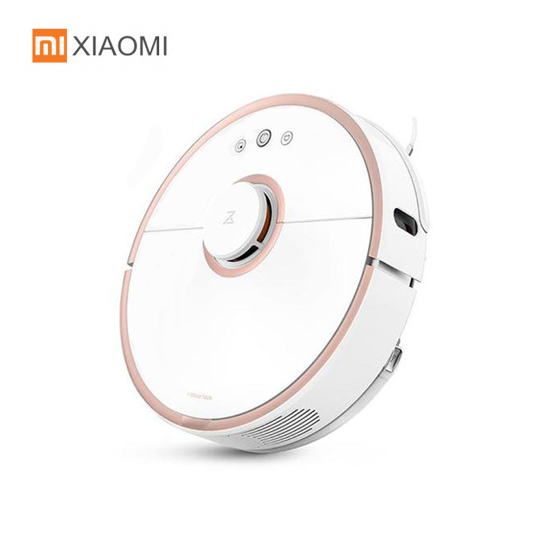 Original XIAOMI Roborock S50 Robot Vacuum Cleaner For Home App Control Smart Automatic Sweep Suction Mopping Intelligent Sensors v bot gvr610d intelligent sweeping robot vacuum cleaner home sweep suction automatic wifi wireless one machine
