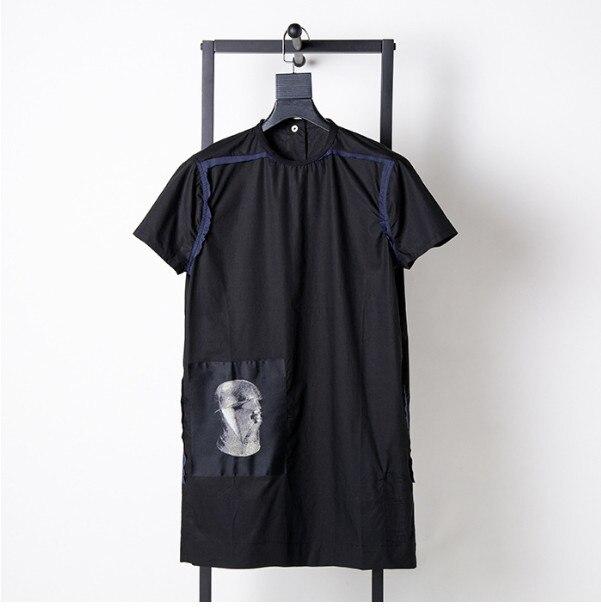 Nouvelle liste de haute qualité multi-processus type bâton de broderie Gete tissé col rond pull bouton T-shirt