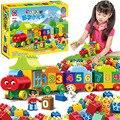 50 unids Caja Original Grandes Números de Tamaño Tren Bloques de Construcción de Ladrillos Compatibles Con Duplo Legoed Educativo Bebé de Juguete De La Ciudad