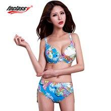 2015 new fashion sexy swimsuit contrast color low waist  beach bathing suit  bikinis set swimsuit for women