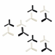 Upgrade 3-Blade CW/CCW Propeller for Hubsan X4 H107/H107C/H107L/H107D H108 H108C Rc Quadcopter Drone Blades Parts white/black