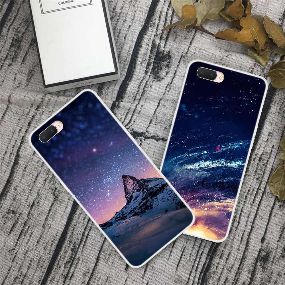 For Oppo A5 a3s Phone Case Carton Starry Sky Moon Painted Soft Full Back Cover For Oppo A3S A 3S / Oppo A5 OppoA5 Cases Fundas