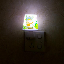 Led Night Light Lamp 0.5W AC220V White/Warm Lovely With Remote Control Dimmer Baby Nightlight For Children Bedroom Passageway