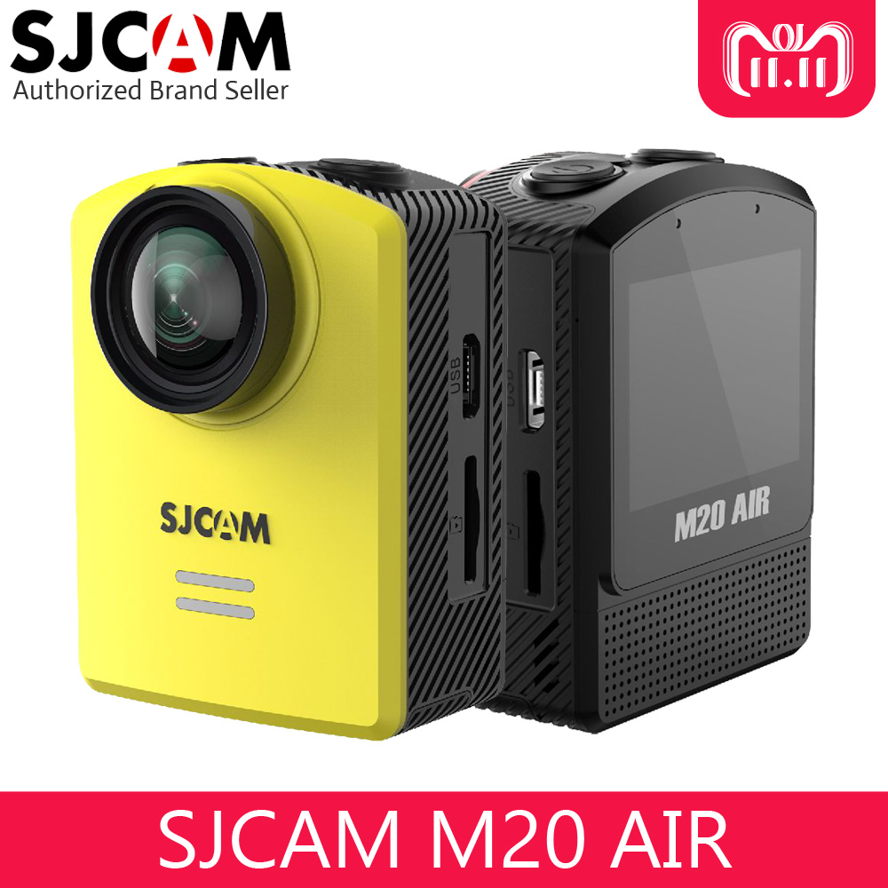 Original SJCAM M20 AIR MINI Sports Action Camera 1080P Full HD WIFI 1.5 Screen Mini Helmet Waterproof Camera with Extra Battery prime book чехол книжка для xiaomi redmi note 5a black