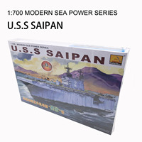 1:700 American USS Saipan Battleship Electric Assemble Aircraft Ship Plastic Assembly Building Kits Model