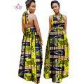 2017 vestidos de Diseño en Moda mujer mujeres bazin riche dashiki africano dashiki largo vestido de algodón más el tamaño 6xl regular WY972