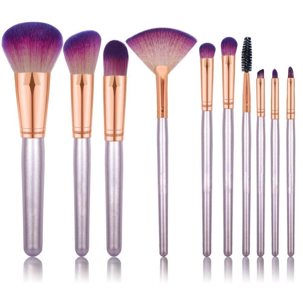 10 Pcs Professional Unicorn Makeup Brushes Set Beauty Cosmetic Eyeshadow Lip Powder Face Pinceis Tools Kabuki Kwasten Brush Kits