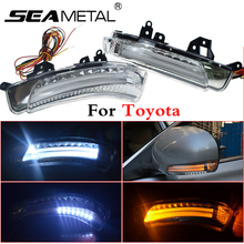 Espejo Retrovisor de coche Luces de Giro LED Lámpara Para Toyota ojalá Mark X Crown Prius Auto Advertencia Exterior Luces de Giro señal