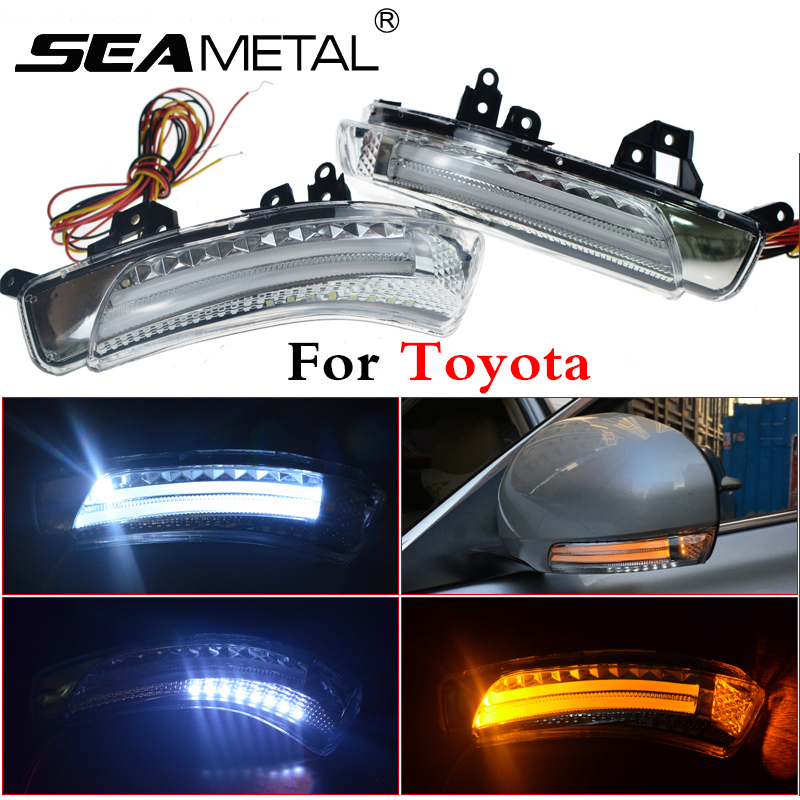 Car Rearview Mirror Turn Signal Lights LED Lamp For Toyota Wish Prius Mark X Crown Auto Exterior Warning Lights Turning Signal