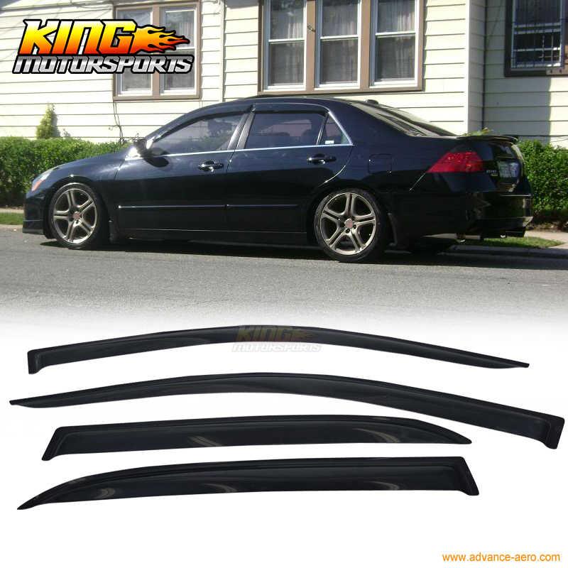 Door Window Visor Rain Sun Guard Deflector Shade Smoke for 01-05 Honda Civic 4p