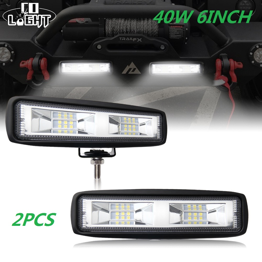 CO LIGHT 6 inch 40W Mini LED Work Light Bar Single Row for Offroad Trucks 4WD 4X4 Barra Drive Fog Lamp Spot Flood Beam 12V 24VCO LIGHT 6 inch 40W Mini LED Work Light Bar Single Row for Offroad Trucks 4WD 4X4 Barra Drive Fog Lamp Spot Flood Beam 12V 24V