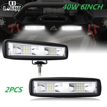 CO LIGHT 6 inch 40W Mini LED Work Light Bar Single Row for Offroad Trucks 4WD
