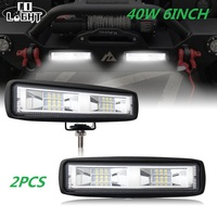 CO LIGHT 6 inch 40W Mini LED Work Light Bar Single Row for Offroad Trucks 4WD 4X4 Barra Drive Fog Lamp Spot Flood Beam 12V 24V