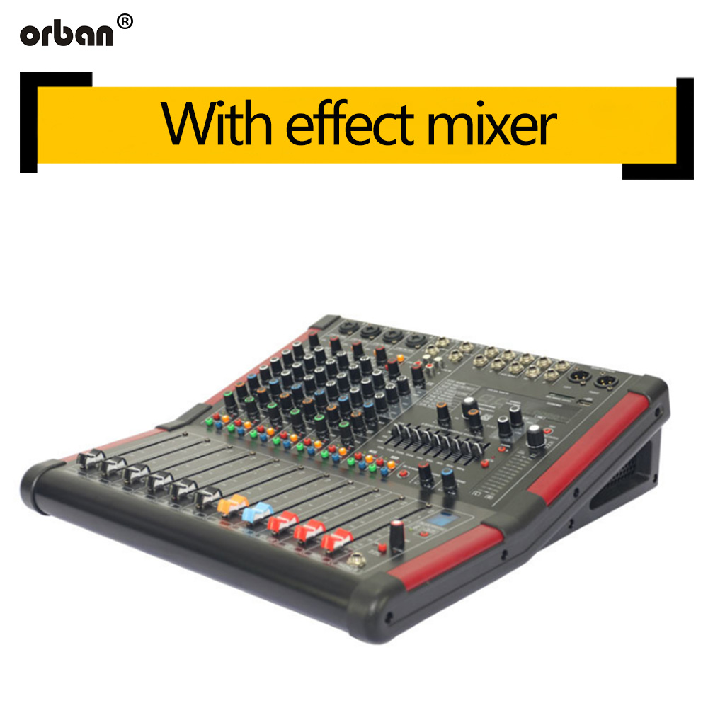 8-channel Bluetooth mixer Professional dual-group 99-effect Stage performance home