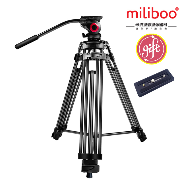 miliboo MTT601A Professional Portable Aluminium Camera Camcorder Tripod for Video /DSLR Camera Stand,with Hydraulic Head Ball