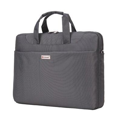 12-13.3 inch Laptop Bag Women Men Notebook Bag Shoulder Messenger Waterproof Computer Sleeve Handbag (Gray)