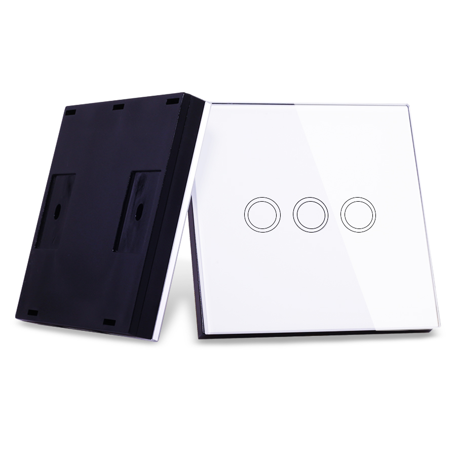 VHOME Smart Home RF 433MHz 3Gang Wireless Switch Shape Remote Control for Touch Wall Lightes Electric Curtains,Home Automation smart home eu touch switch wireless remote control wall touch switch 3 gang 1 way white crystal glass panel waterproof power