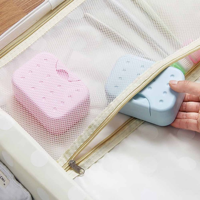 2018 New Travell Rectangular Plastic Soap Dish Box Case Holder Hygienic Easy To Carry Soap Box Container Bathroom  Supplies